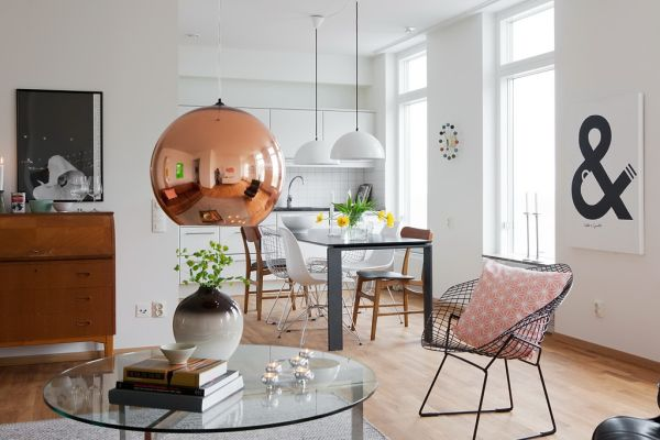 copper-hanging-pendant-lamp-over-coffee-table-living-room-ideas-glass-top-wooden-armchairs-furniture-decor-interior-modern-