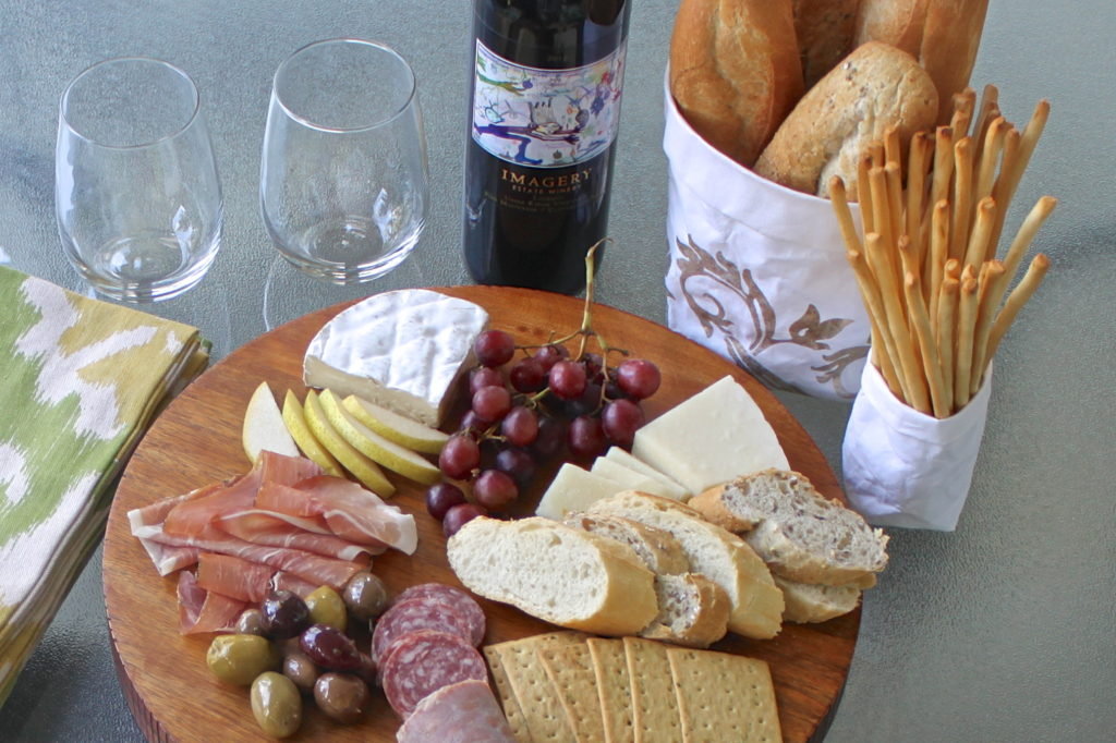 Patio Picnic with an Easy Charcuterie in three easy steps.