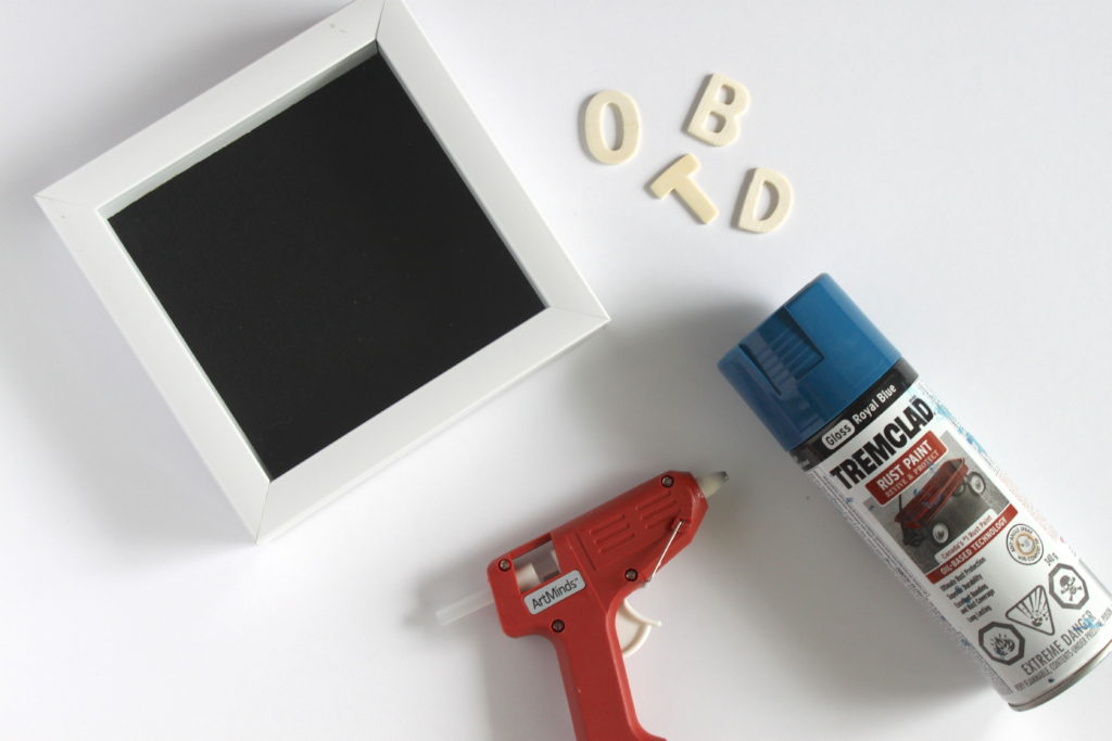 Easy DIY Motivation Art with a shadow box, wooden letters, spray paint and a glue gun