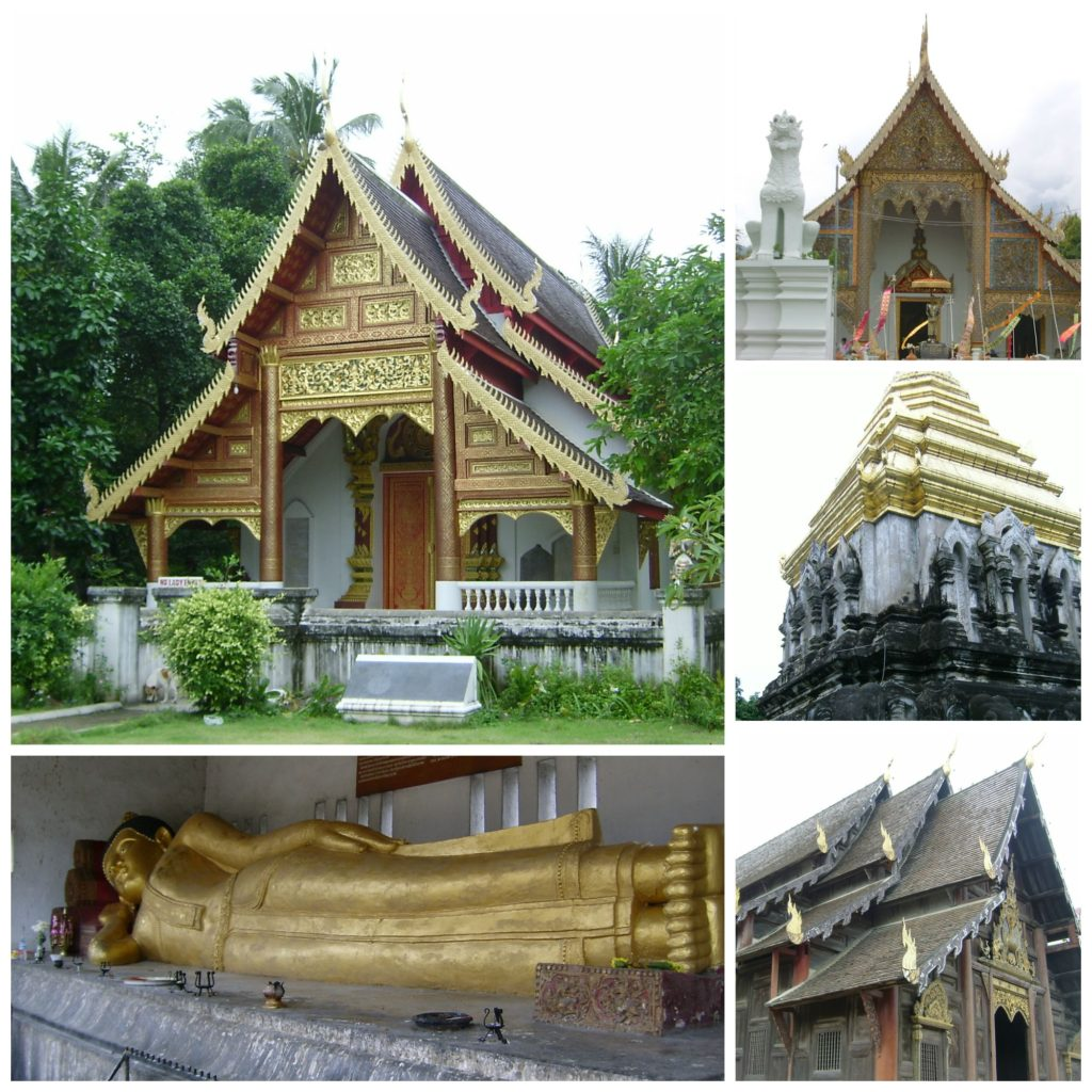 Travel inspiration - four of the over 300 buddhist temples in Chiang Mai