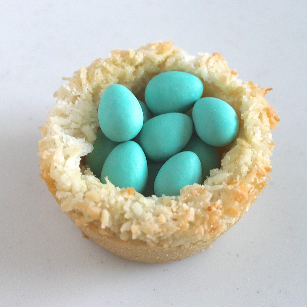 sugar cookie easter eggs nests