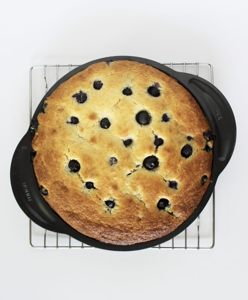 Blueberry Lemon Ricotta Cake