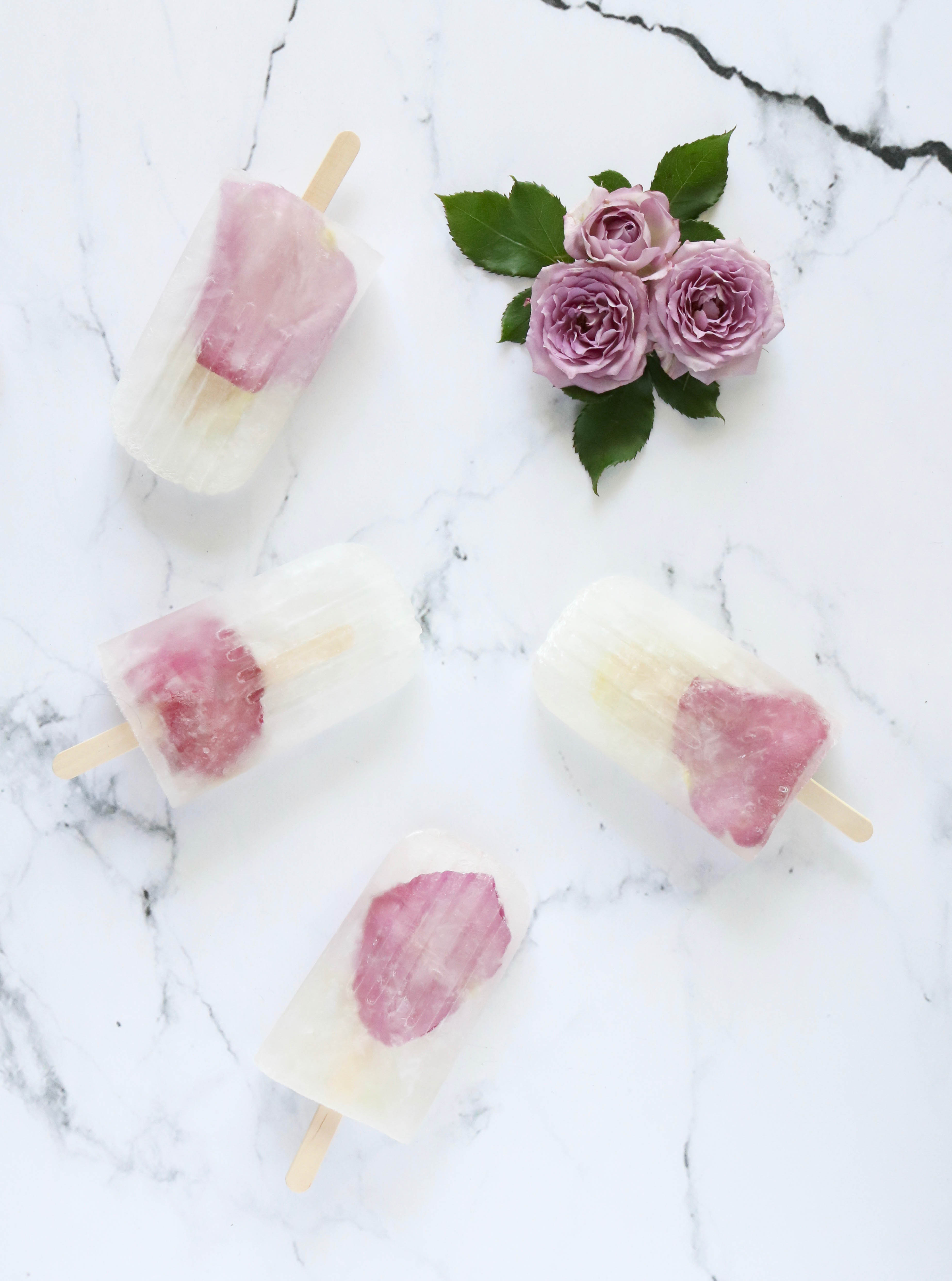 prosecco rose popsicles