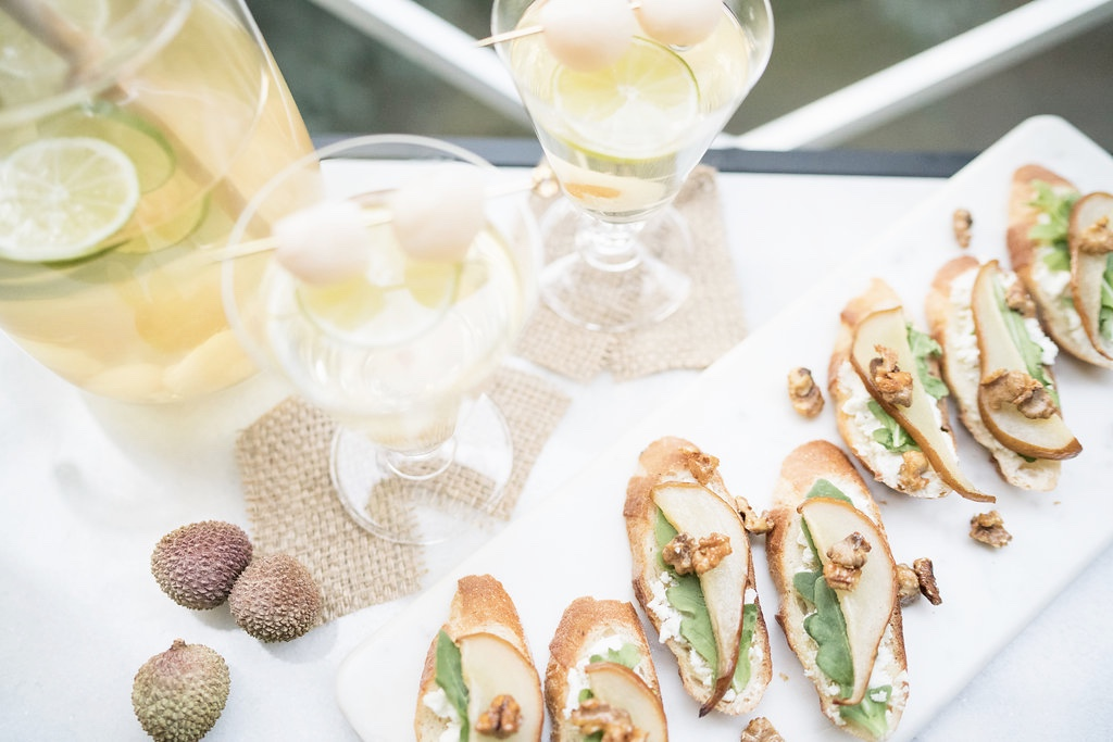summer sangria and crostini