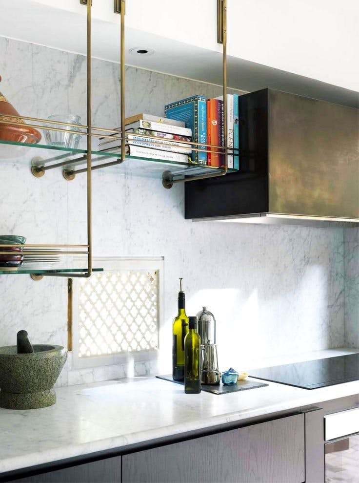 open shelving in kitchens