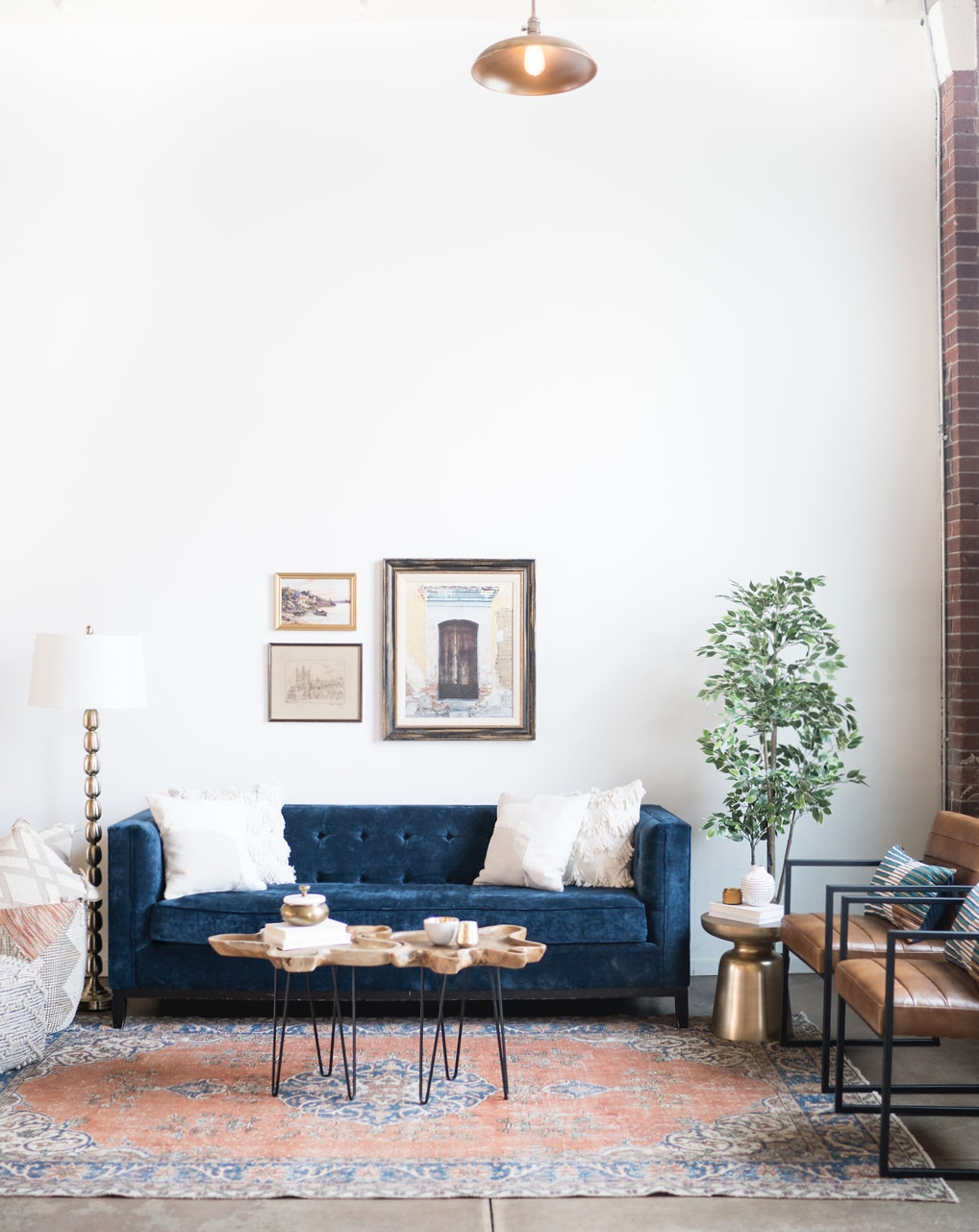 colour crush: terracotta and navy
