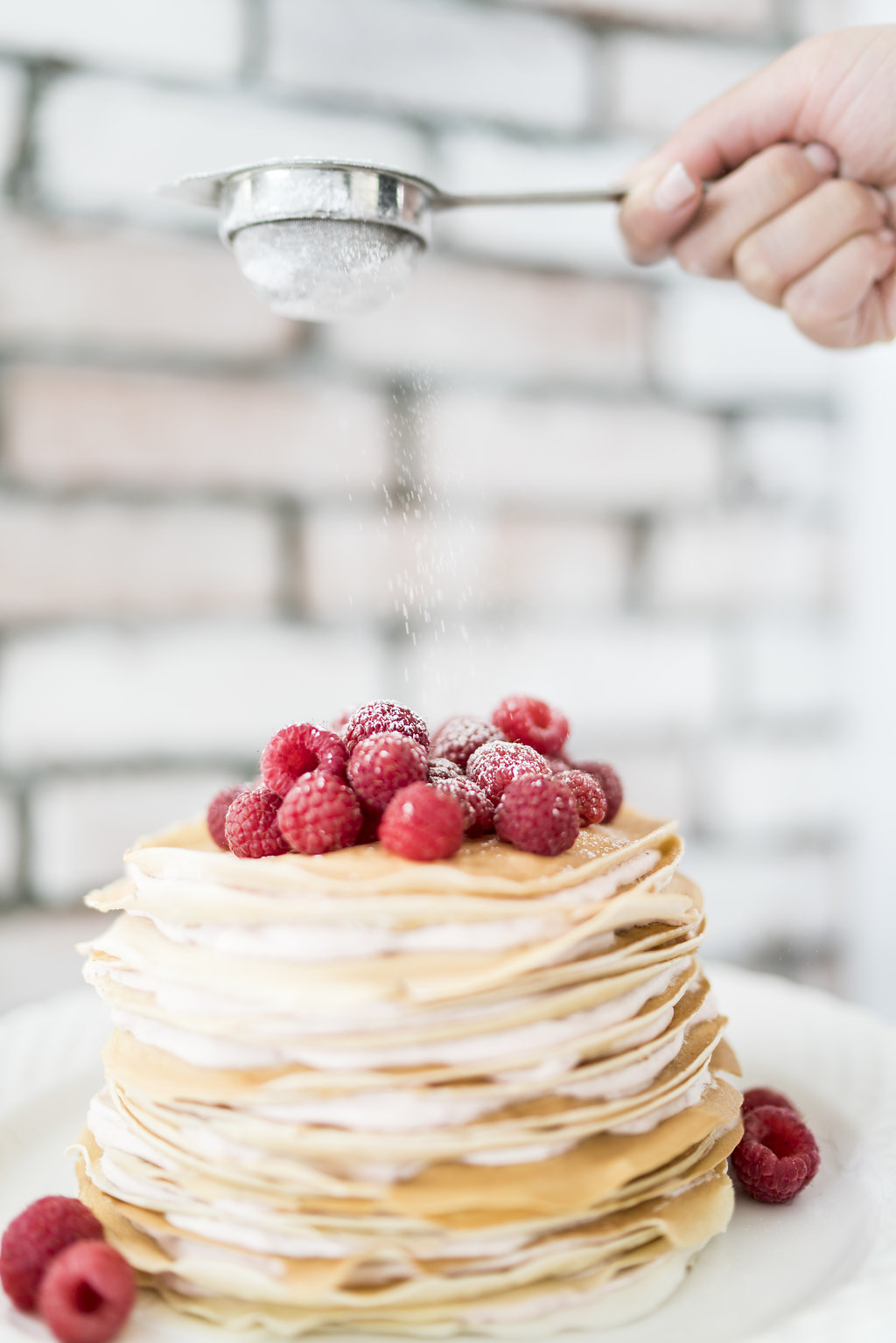 berry cream crepe cake
