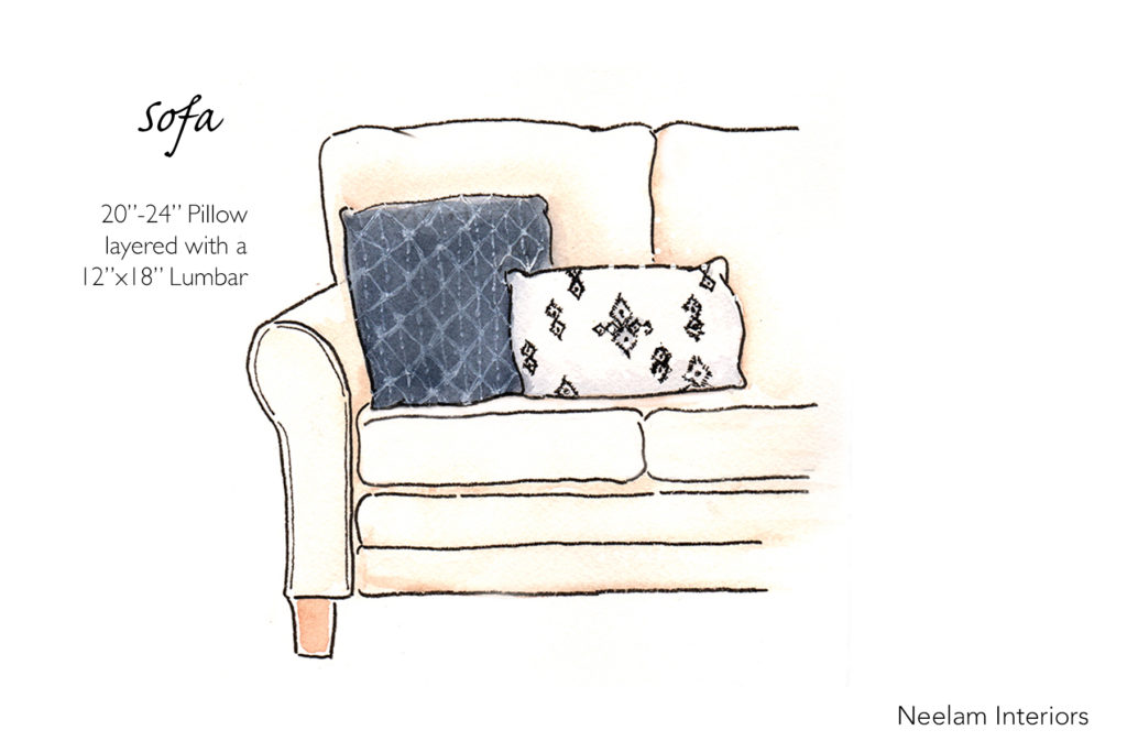 Design Tip: Styling Pillows on Sofas and Chairs