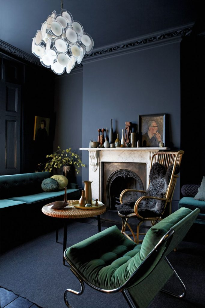2020 Interior Design Colour Trends Moody Hues Peacock